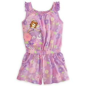 02d1966a99a3 DISNEY STORE SOFIA THE FIRST KNIT ROMPER FOR GIRLS NWT ~ SO CUTE ...