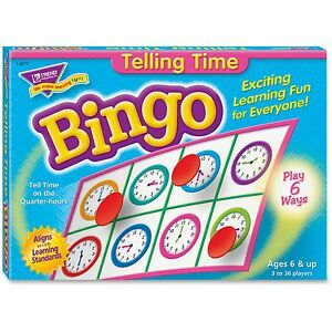 Trend-Bingo-Telling-Time-Game-3-36-Players-36-Cards-Mats-6072