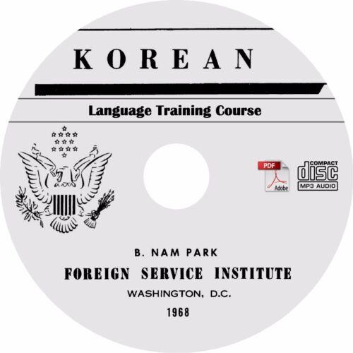 Learn to Speak KOREAN Language Training Course MP3 Audio PDF Text on CD