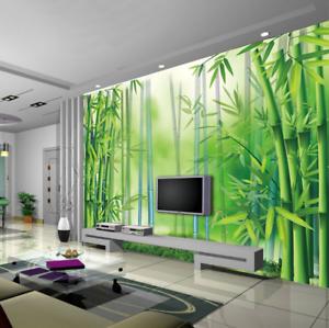 3D Bamboo Forest 66 Wallpaper Murals Wall Print Wallpaper Mural AJ WALL UK Lemon