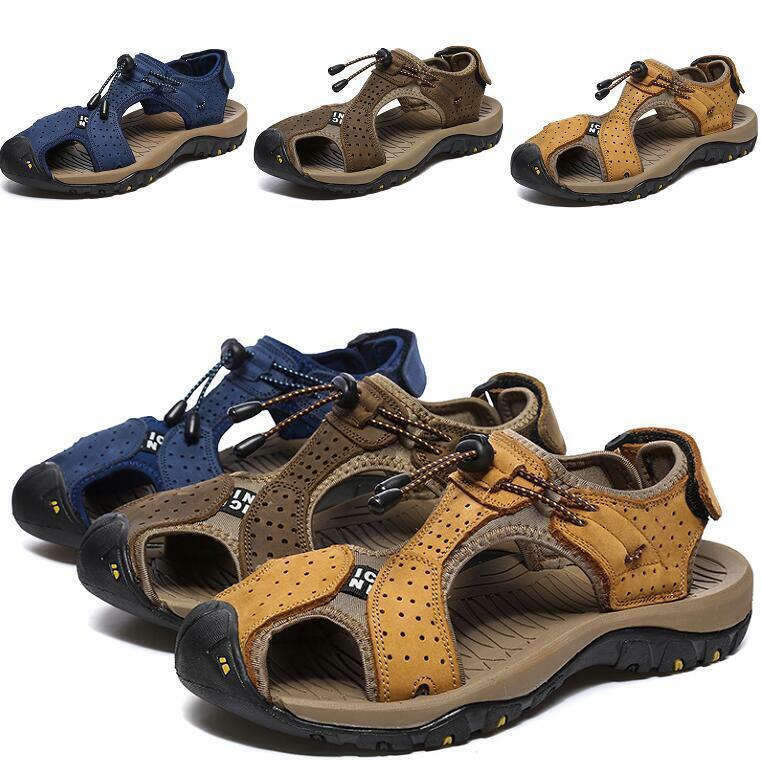 Hombres Zapatos Sandalias De Playa Correas huecos antideslizante en pisos Suave Antideslizante Deporte Nuevo