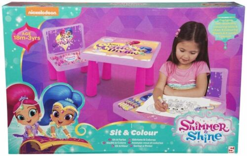 Sambro Shimmer and Shine Sit and Colour:Colouring Crayons /& Colouring Sheets