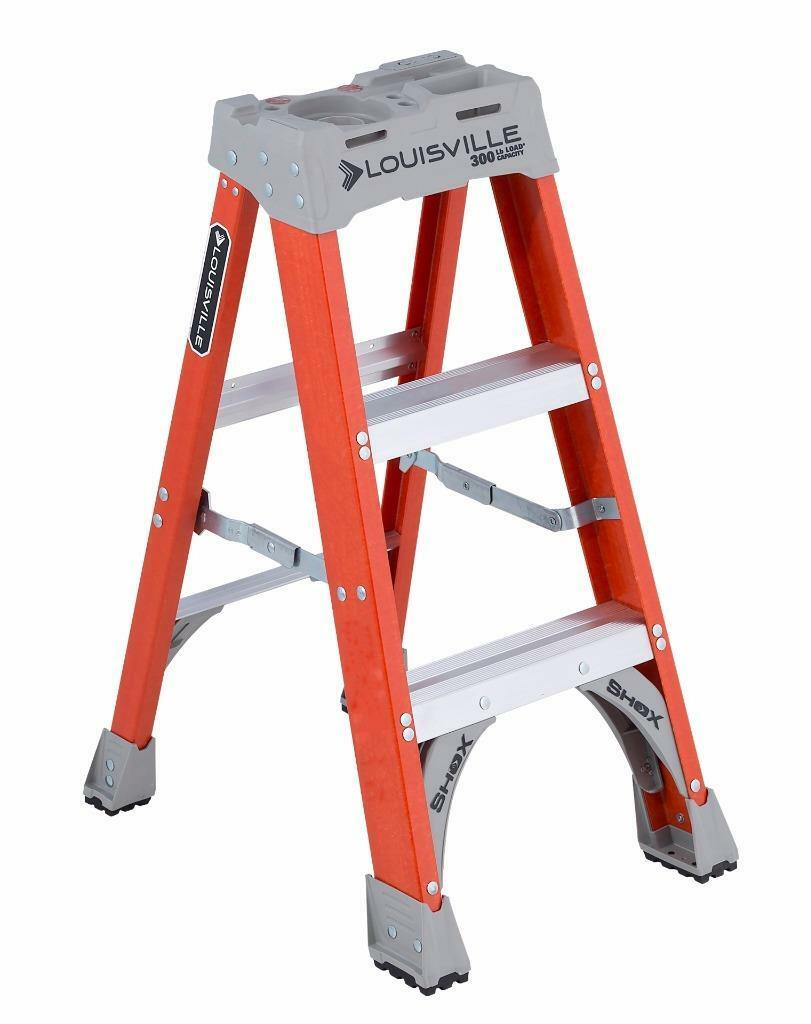 Louisville Ladder FS1503 3 ft Fiberglass Standard Step Ladder