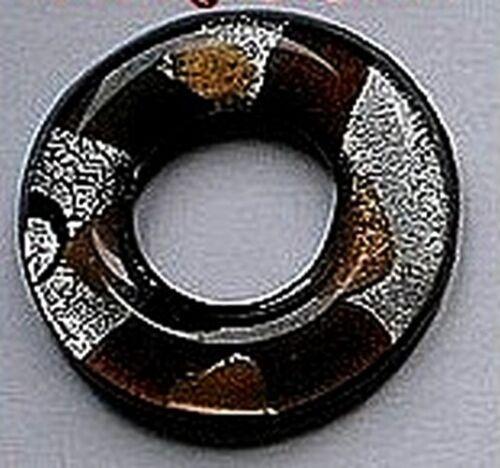 Style murano En effrété moreti 1 pendentif donut marron