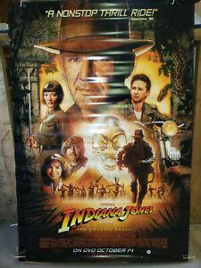 Indiana Jones Kingdom Of The Crystal Skull 2008 27x39 5 Rolled Dvd Promo Poster Ebay