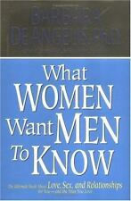 What Woman Want Men to Know: The Ultimate Book About Love, Sex, and Re-ExLibrary