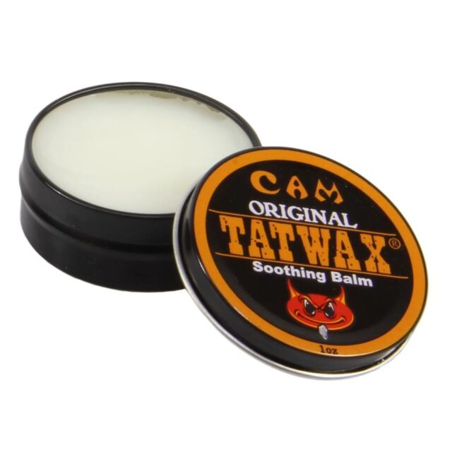 TatWax Tattoo/Piercing After Care Soothing Balm, color enhancer (Made in USA)