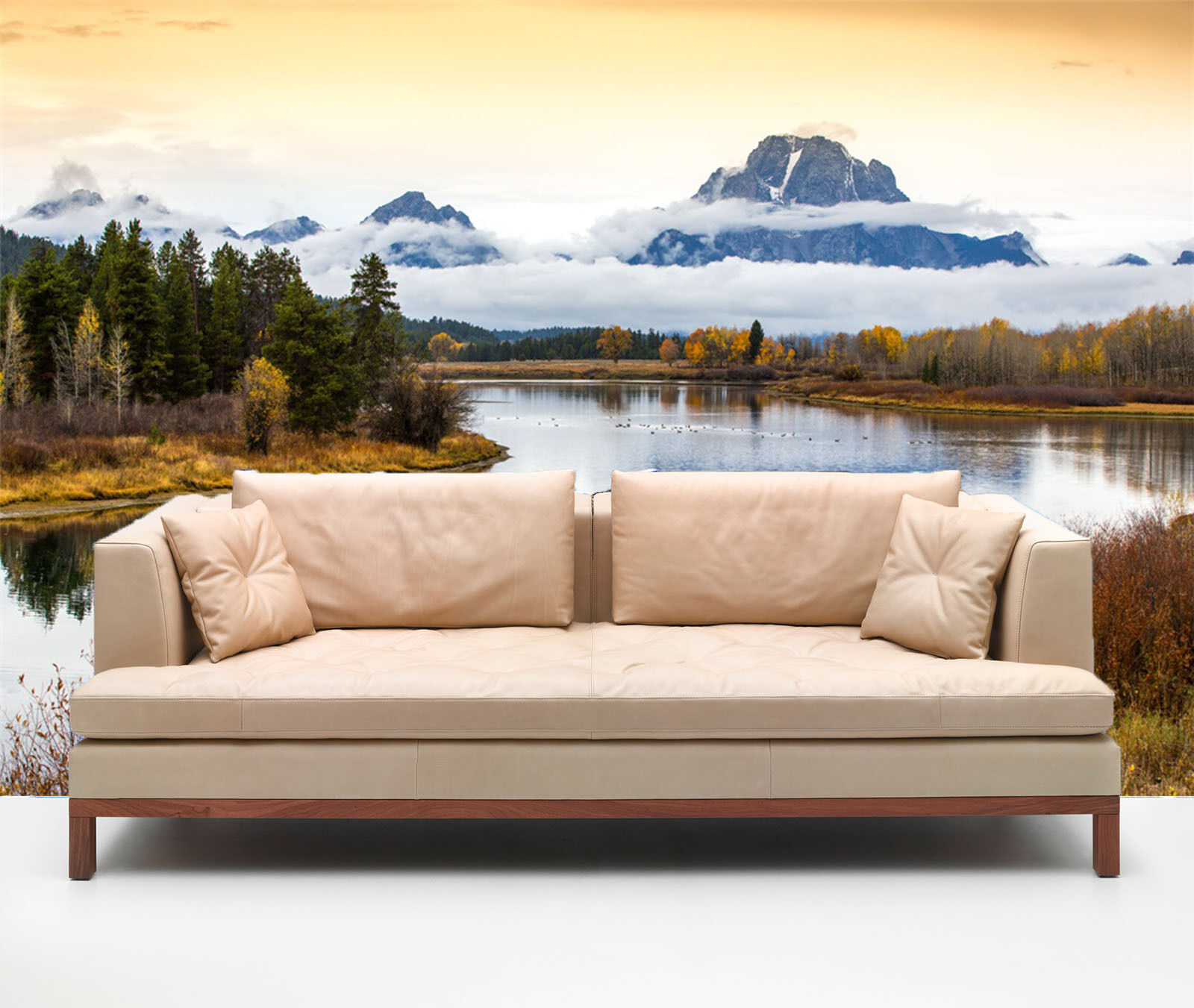 3D Snow and lake 3676 Wall Paper Print Wall Decal Deco Indoor Wall Murals
