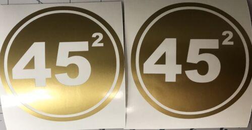 PAIR GOLD TRUMP 45th PRESIDENT 2nd TERM 2020 DECAL BUMPER STICKER AMERICA FIRST