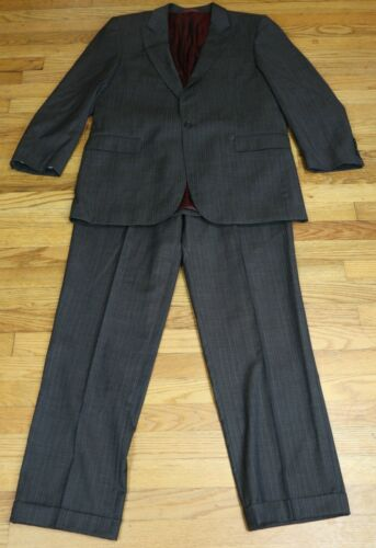 MEN'S DARK GRAY LIGHT PINSTRIP SUIT - SUPER 120'S