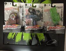 Beyblader 1xRev Up Launcher 2xCustom Grip 3xwind Shoot Launcher(6Beyblade Hasbro