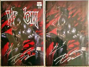 Venom-1-SIGNED-BY-Cates-amp-Skan-Virgin-amp-Variant-Covers-Marvel-BX3-w-COA
