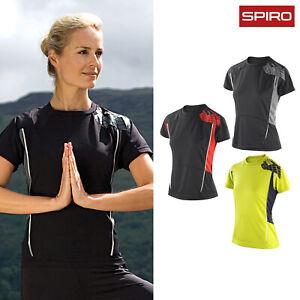 Spiro Womens Training Sports Running Fitness Workout Short Sleeve T-Shirt Top