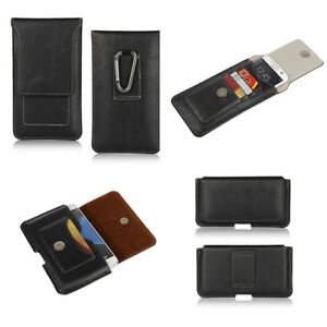 For-Nokia-Lumia-920-Black-Genuine-Leather-Belt-Buckle-Tradesman-Case-Cover-Pouch