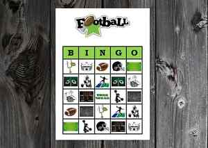 photo regarding Super Bowl Party Games Printable called Data more than Soccer Athletics Birthday / Tremendous Bowl Celebration Video game Printable Bingo Playing cards