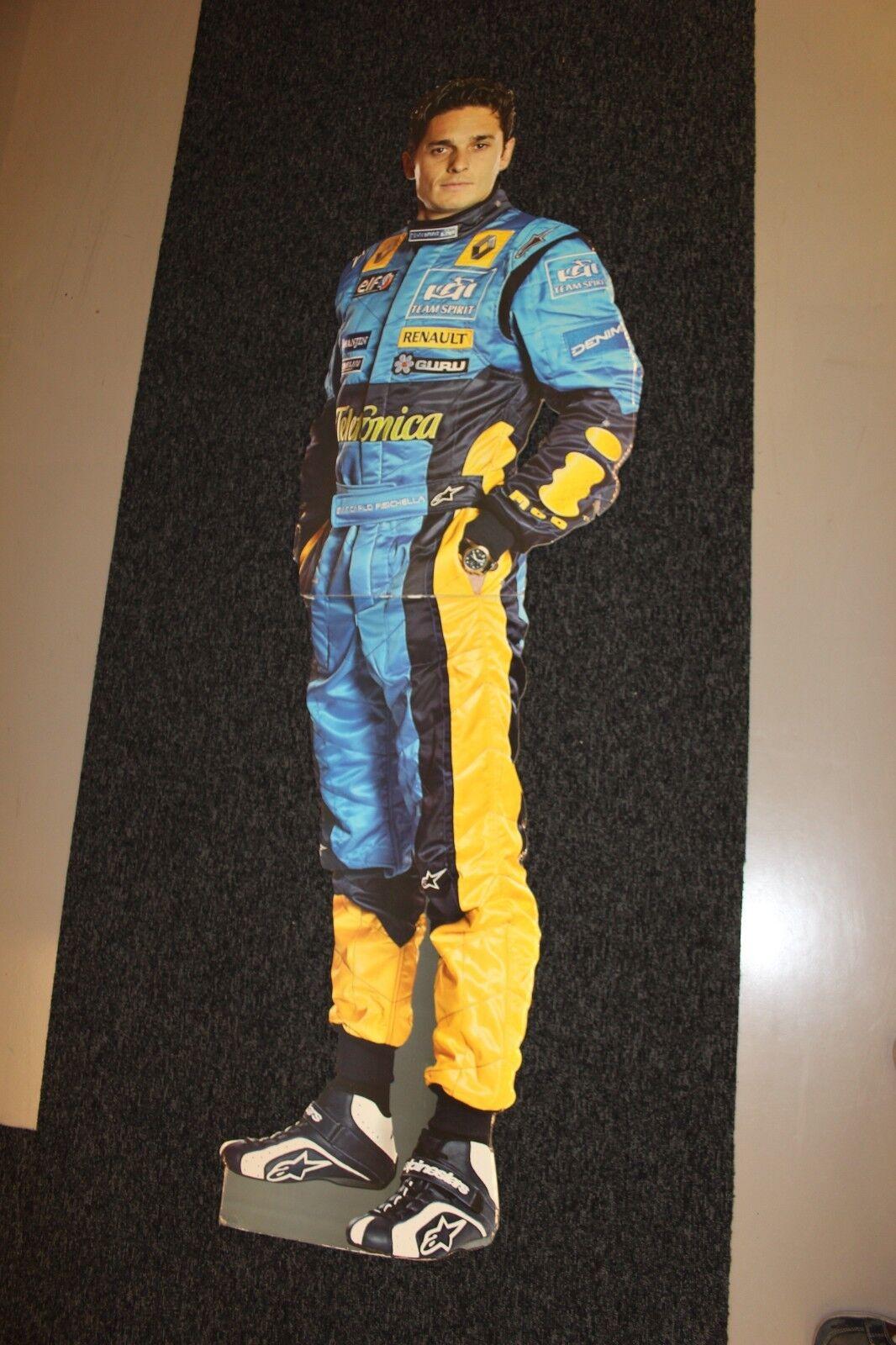 Cardboard Figurine Giancarlo Fisichella Mild Seven Renault F1 (height 178 cm)