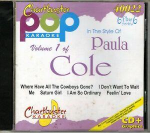 Details about Chartbuster Karaoke CD+G Pop Artist Series - CB40022 Vol  1  (Paula Cole)
