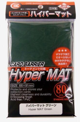 80 Stück KMC Hyper Mat Green Sleeves Hyper Matt-Grün