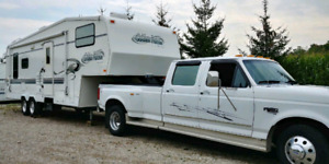 Fifth Wheel Trailer and 1997 Ford F-350 Power Stroke Dually.