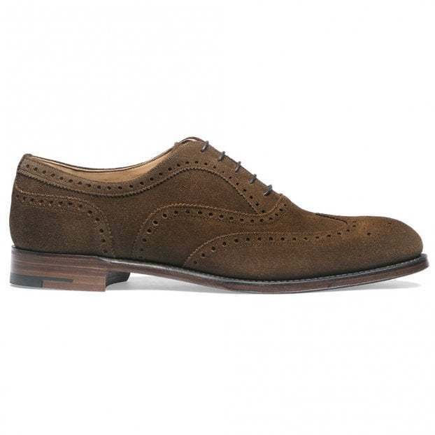 Men Brown Suede Oxford Brogue shoes,Handmade Classic Wingtip Lace Up shoes