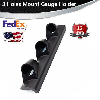 Universal Black 52mm Car SUV Pillar Pod 3 Triple Gauge Holder Mount Pod Bendable