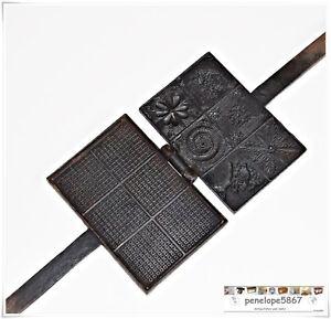 Nachdenklich @ Omas Altes Zimtwaffeleisen Waffeleisen Aus Gusseisen Top Zustand @ üBerlegene Materialien Kleingeräte Küche