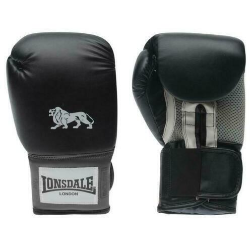 Lonsdale Sacca Pesante Pro Training Guantoni da boxe Punch Guanti 10-16 OZ NERO D331*2