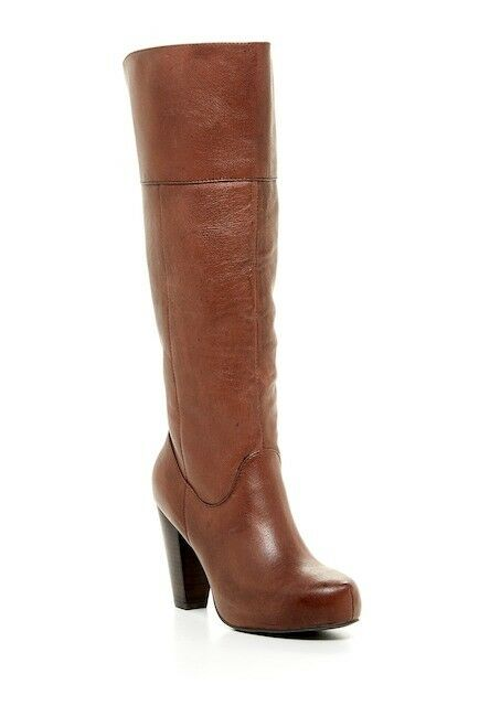New Steve Madden Gillis Soft Coffe Brown Leather Tall Knee Dress Boots 8.5