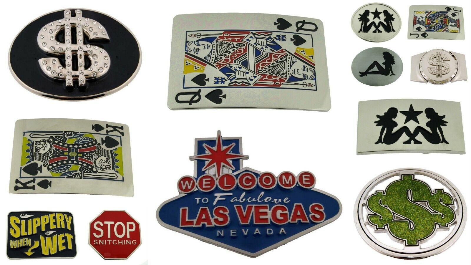 12 Jack Königin König Von Spaten Las Vegas Geld Großhandel Viel Gürtelschnalle
