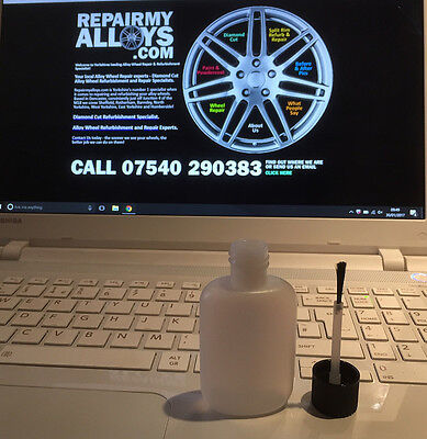 German Silver Alloy Wheel Repair Kit Touch Up Paint ...