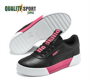scarpe puma nere di pelle