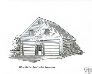 Image Is Loading 30 X 36 2 Stall FG Garage Building