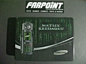 SUPER-RARE-Samsung-MATRIX-RELOADED-Prop-Phone-Metal-Tin-Empty-Box-Case-ONLY