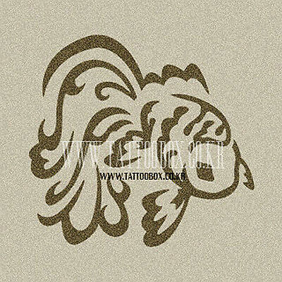 Airbrush Tattoo Stencil - Reusable  - Gold Fish (Small size)