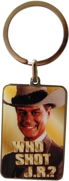 Dallas Porte clefs Officiel J.R Ewing en metal neuf Who shot JR official keyring