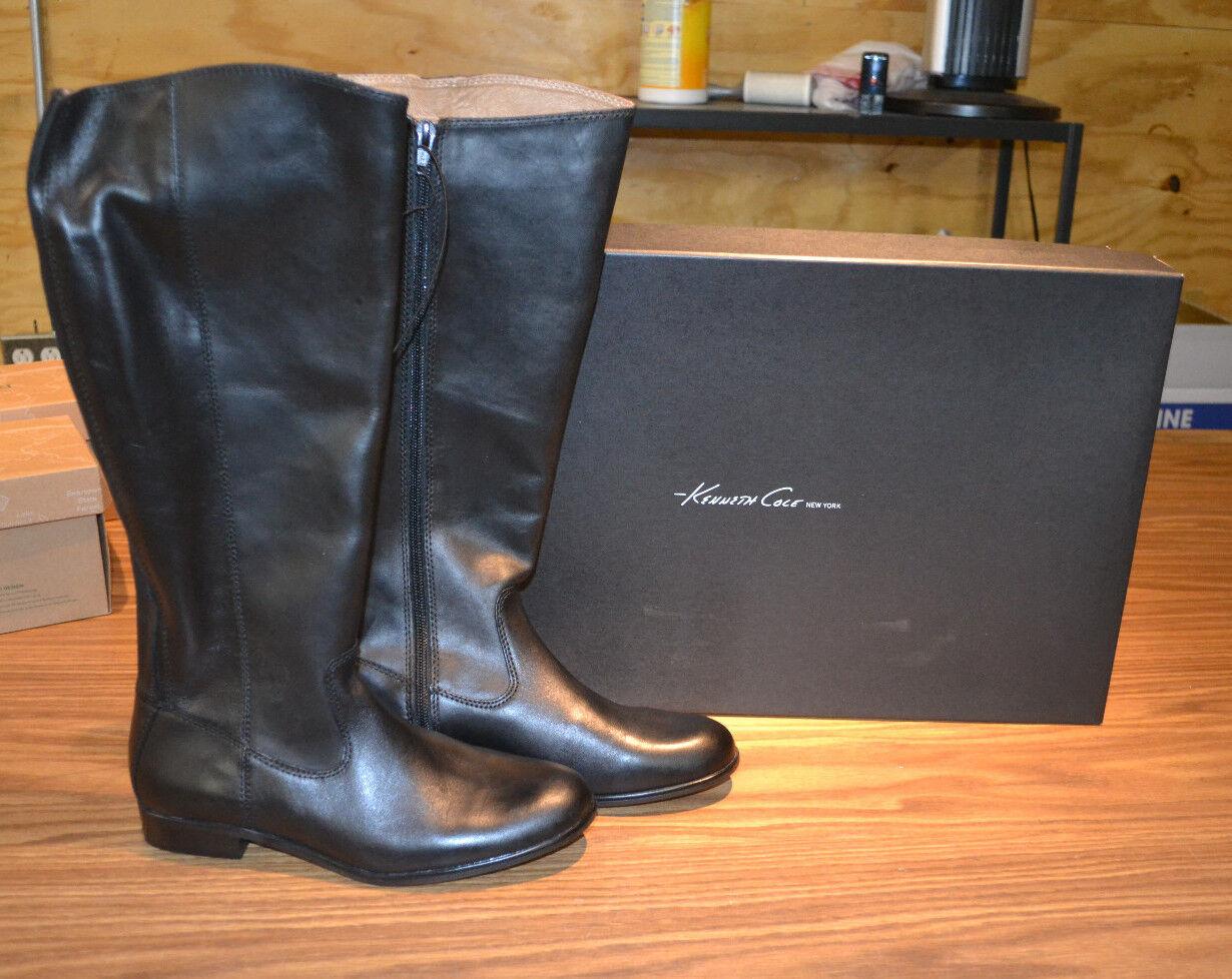 Kenneth Cole New York Ladies' Leather stivali-nero-7.5-NIB