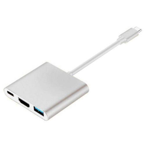 USB 3.1 Type C USB 3.0 3 in 1 Hub 4K HDMI For MacBook Air Pro Chromebook Pixel