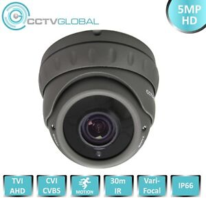 Details about 5MP TVI AHD CVI CCTV GREY DOME CAMERA SONY STARVIS ULTRA LOW  LIGHT SENSOR 30M IR