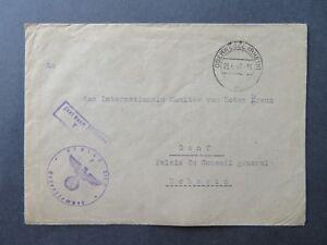 Germany-1940-Oberwesel-POW-Cover-to-Switzerland-Z8099