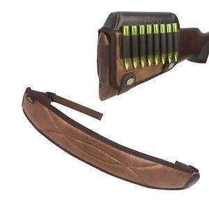 Tourbon-Rifle-Cartridge-Holder-Cheek-Rest-Pad-Gun-Carrying-Sling-Hunting-Strap