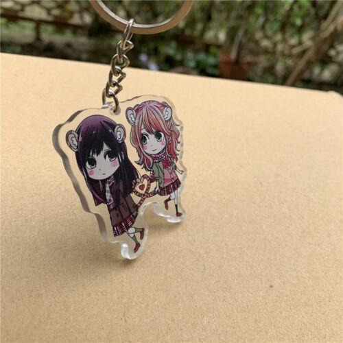 Anime Otome Game Citrus Acrylic Keychain Strap Figure Aihara Yuzu Aihara Mei