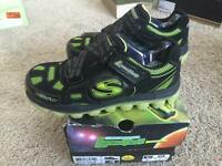 NEW Skechers Boys Kids Youth Luminators Light Up Sneakers Shoes 3 M