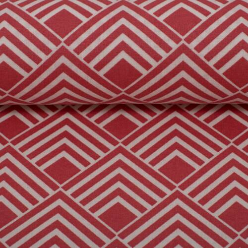 Carrés 150 cm Corail Tissu Coton Swafing Leona enduit