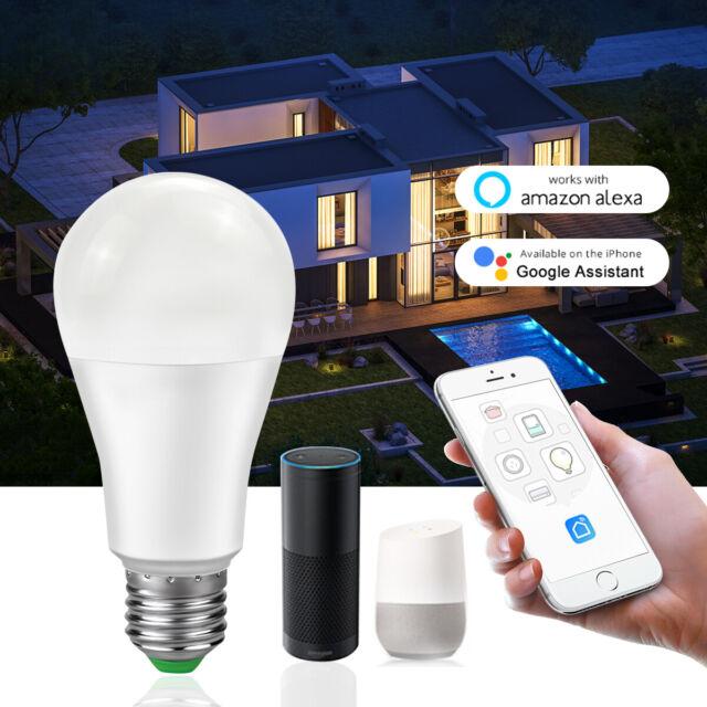 15W E27 WiFi Smart LED Light Bulb Lamp APP Control For Amazon Alexa Google Home