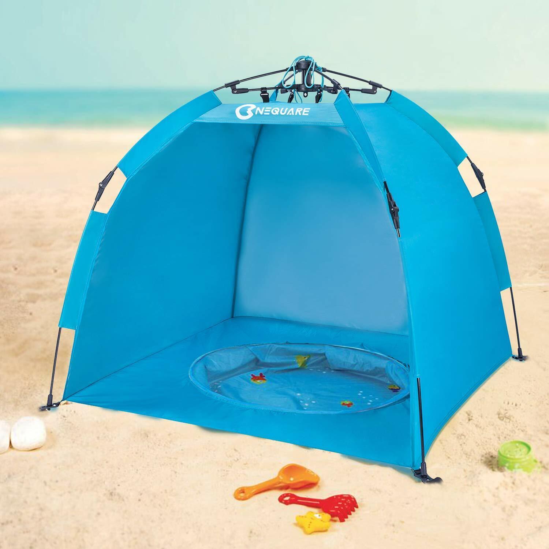 Nequare Baby Jugara Tienda Campaña Plus, 2 segundos  fácil configuración y portátil Beach Pool paraguas  deportes calientes