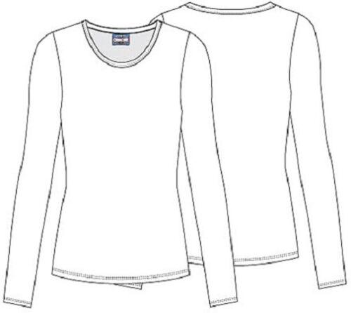 Cherokee Workwear Scrubs Long Sleeve Tee 4881 CARW Caribbean Blue  Free Shipping