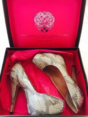 "Women's VINCE CAMUTO Shoes Silver Mist Size 7M"" Spike Heels 1"" Platform & Box"