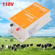 12v Solar Electric Fence Energizer Charger For Animals Poultry Controller 110v