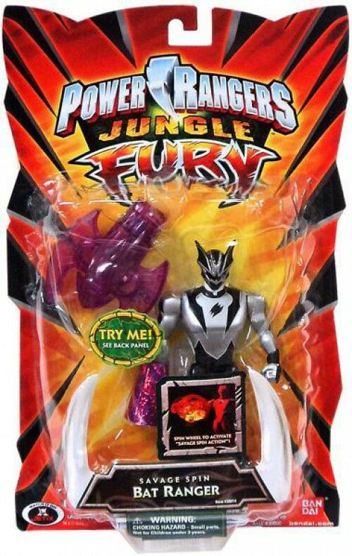 Power Rangers Jungle Fury Savage Spin Bat Ranger Action Figure