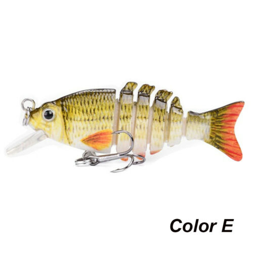 Artificial Treble Hooks Crucian Carp Fishing Multi Jointed Lure Bionic Bait~